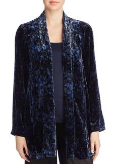 Eileen Fisher Printed Velvet Open Jacket