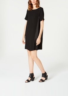 Eileen Fisher Pullover Silk Shift Dress