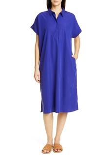Eileen Fisher Quarter Placket Shirtdress
