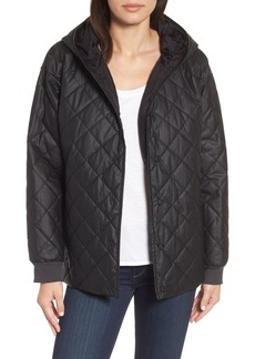 Eileen Fisher Quilted Hooded Jacket