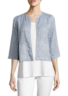 Eileen Fisher Quilted Organic Cotton & Organic Linen Jacket