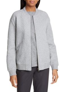 Eileen Fisher Quilted Organic Cotton Flight Jacket (Regular & Petite)