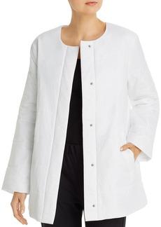 Eileen Fisher Quilted Round Neck Jacket