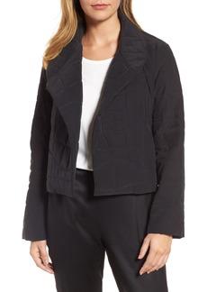 Eileen Fisher Quilted Silk Crop Jacket