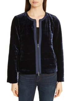 Eileen Fisher Quilted Velvet Jacket (Regular & Petite)
