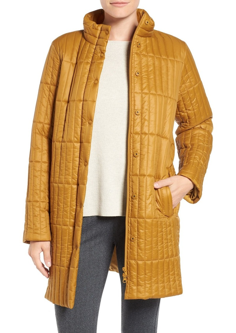 Eileen Fisher Recycled Nylon Blend Quilted Jacket