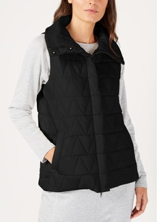 Eileen Fisher Recycled Nylon Blend Quilted Vest