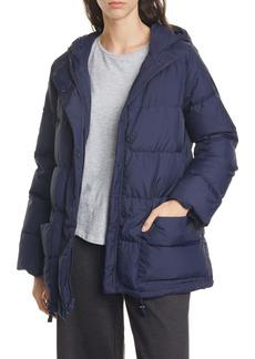 Eileen Fisher Recycled Nylon Hooded Down Coat (Regular & Petite)