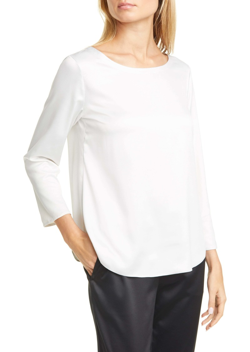 Eileen Fisher Recycled Satin Blouse