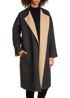 Eileen Fisher Reversible Alpaca & Wool Blend Coat