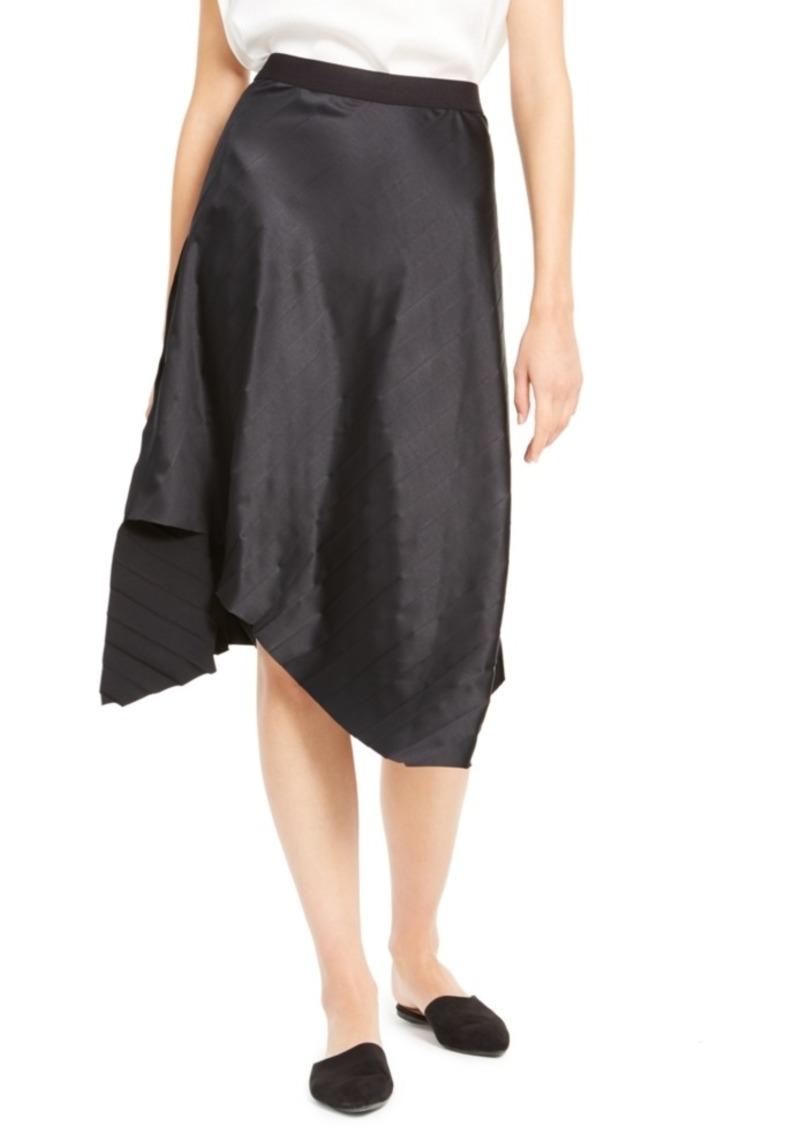 Eileen Fisher Reversible Asymmetrical-Hem Skirt