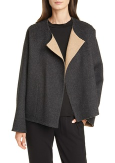 Eileen Fisher Reversible Felt Coat