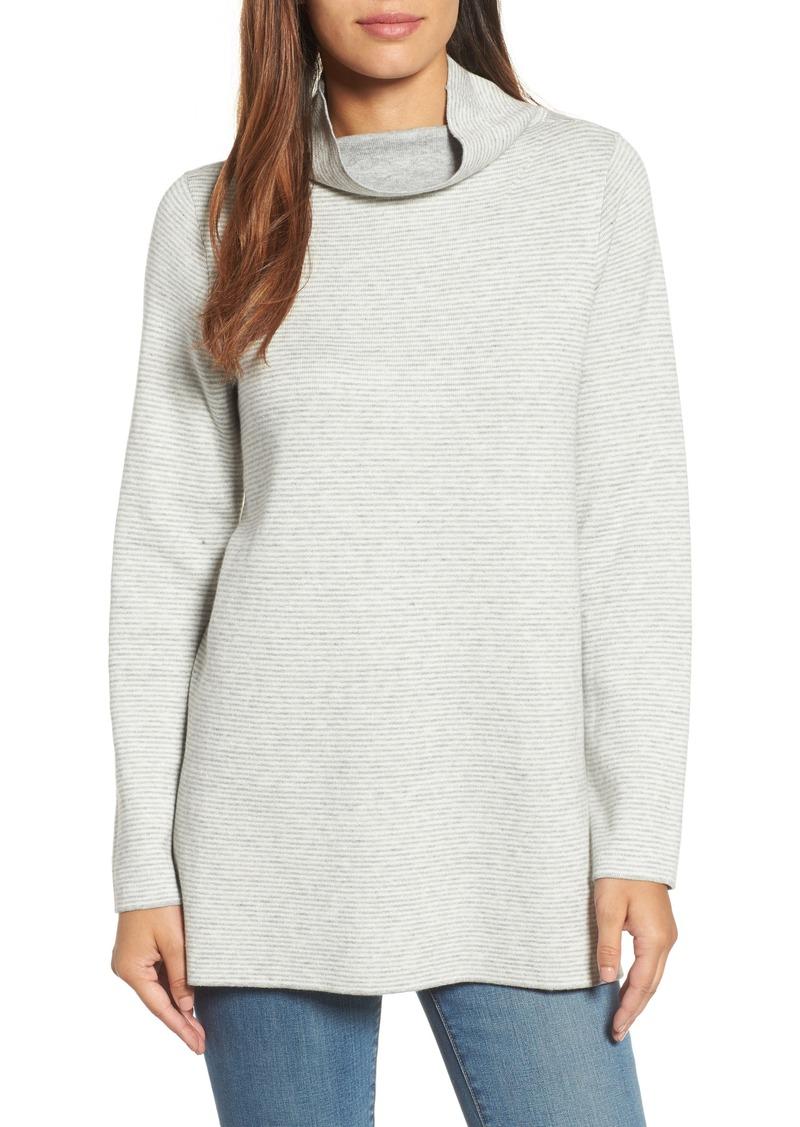 64367596e66 Eileen Fisher Eileen Fisher Reversible Funnel Neck Tunic Sweater ...