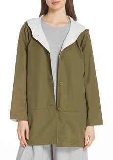 Eileen Fisher Reversible Hooded Jacket (Regular & Petite)