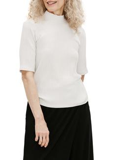 Eileen Fisher Rib Knit Mock Neck Top