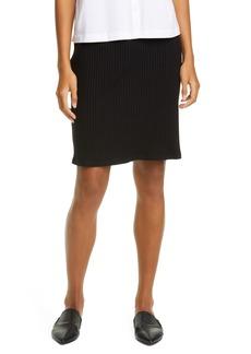 Eileen Fisher Rib Knit Pencil Skirt