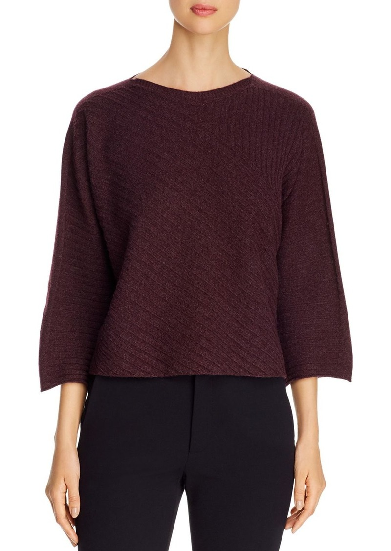 Eileen Fisher Ribbed Cashmere Boatneck Sweater - 100% Exclusive