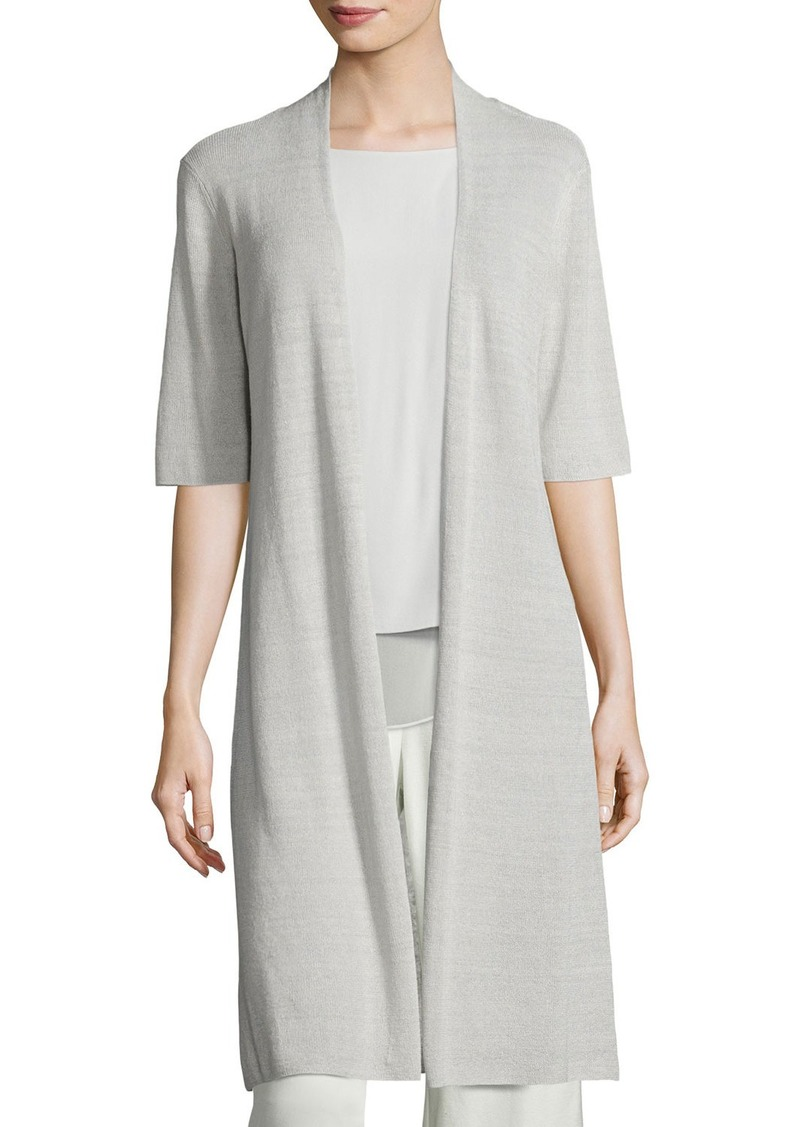 Eileen Fisher Eileen Fisher Ribbed Knee Length Cardigan Sweaters