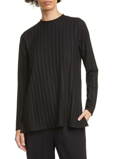Eileen Fisher Ribbed Mock Neck Tunic
