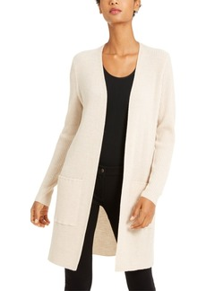 Eileen Fisher Ribbed Open Cardigan