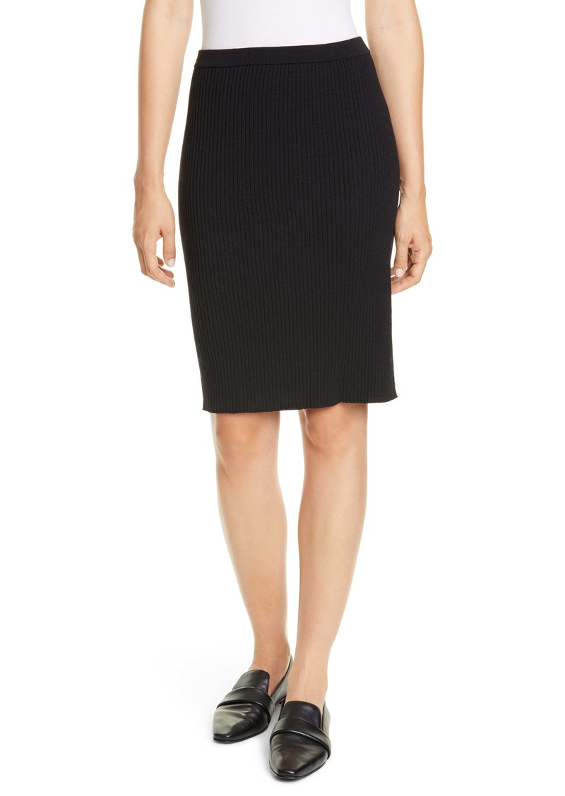 Eileen Fisher Ribbed Wool Skirt