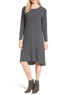 Eileen Fisher Ribbed Wool Sweater Dress
