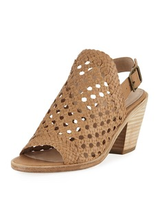 Eileen Fisher Rory Woven Leather Slingback Sandal
