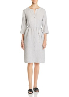Eileen Fisher Round-Neck Belted Shirt Dress