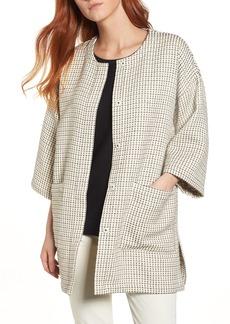 Eileen Fisher Round Neck Kimono Jacket