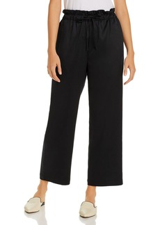 Eileen Fisher Satin Drawstring Ankle Pants - 100% Exclusive