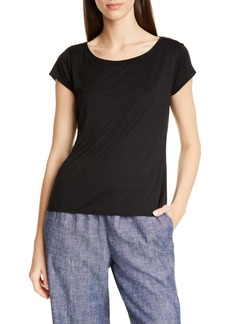 Eileen Fisher Scoop Neck Cap Sleeve Tee