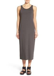 Eileen Fisher Scoop Neck Jersey Midi Dress (Regular & Petite)