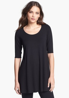 Eileen Fisher Scoop Neck Jersey Tunic (Regular & Petite)