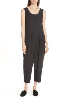 Eileen Fisher Scoop Neck Organic Cotton Jumpsuit