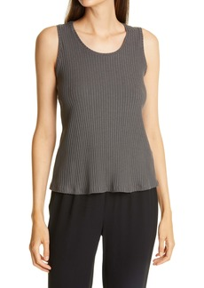 Eileen Fisher Scoop Neck Ribbed Tank