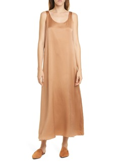 Eileen Fisher Scoop Neck Silk Dress