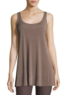 Eileen Fisher Scoop-Neck Stretch Silk Jersey Tunic
