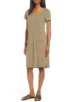 Eileen Fisher Hemp Blend Stripe T-Shirt Dress (Regular & Petite)