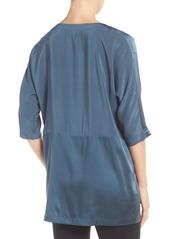 Eileen Fisher Scoop Neck Three-Quarter Sleeve Top