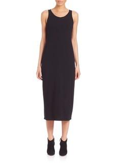 Eileen Fisher Scoopneck Knit Midi Dress