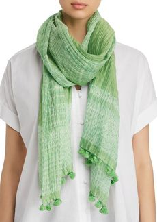 Eileen Fisher Semi-Sheer Border Scarf
