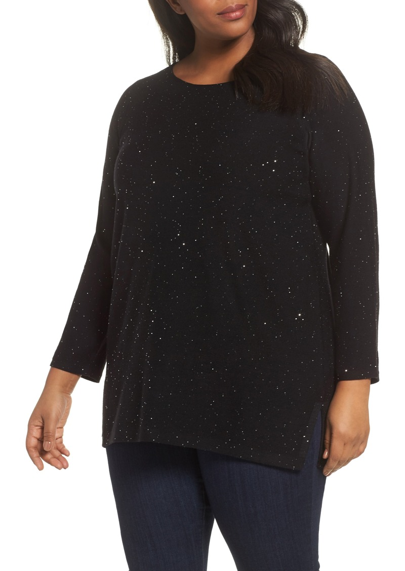 a3c43c01e2975f Eileen Fisher Eileen Fisher Sequin Merino Wool Tunic Sweater (Plus ...