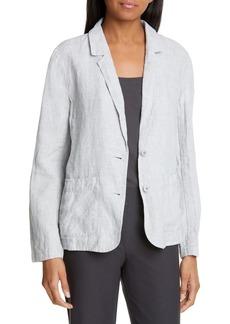 Eileen Fisher Shaped Linen Blend Blazer (Regular & Petite)