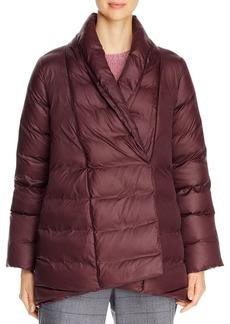 Eileen Fisher Shawl-Collar Down Puffer Coat