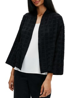 Eileen Fisher Shawl Collar Fil Coupé Jacket (Regular & Petite)
