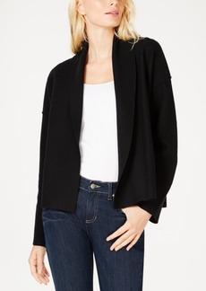 Eileen Fisher Merino Wool Shawl-Collar Jacket