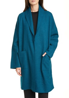 Eileen Fisher Shawl Collar Long Wool Jacket