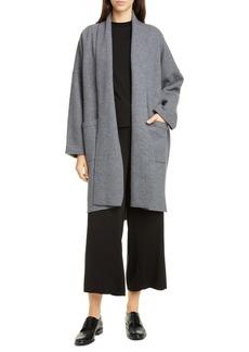 Eileen Fisher Shawl Collar Long Wool Jacket