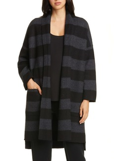 Eileen Fisher Shawl Collar Merino Wool Cardigan