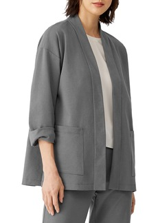 Eileen Fisher Shawl Collar Open Front Jacket (Petite)